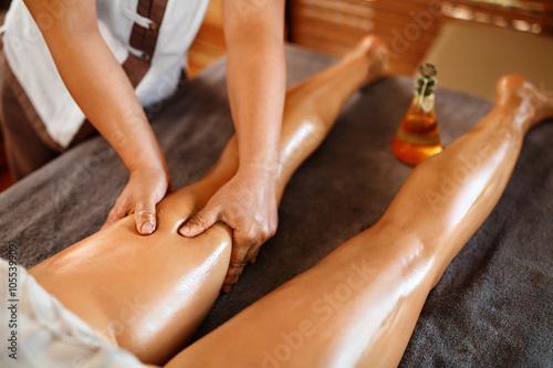 Erotic thigh massage