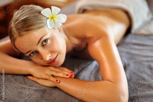 4d8184e63008c Spa Woman. Beauty Treatment Concept. Beautiful Healthy Caucasian Girl  Relaxing On Massage Table Before Hand Massage On Relaxed Back In Health And Spa  Salon.