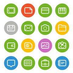 Different Web icons set isolated on white. Flat design elements