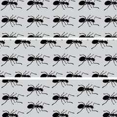 Black ants pattern