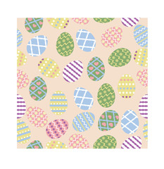 seamless pattern of easter eggs vector image or pattern of colorful eggs vector image