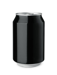 Black blank drink can