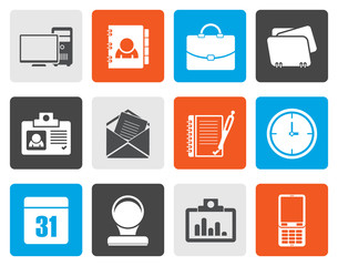 Flat Web Applications, Business and Office icons, Universal icons - vector icon set