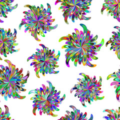 Seamless pattern with stylized flowers.