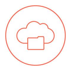 Cloud computing line icon.
