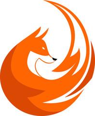 elegant fox illustration