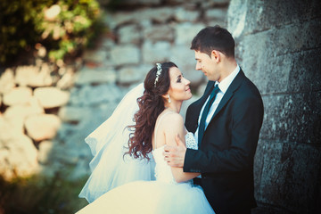 beautiful summer wedding that took place in the old city with wo