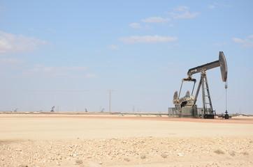 Oil pump in desert Oman