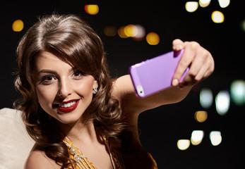 smile lady selfie
