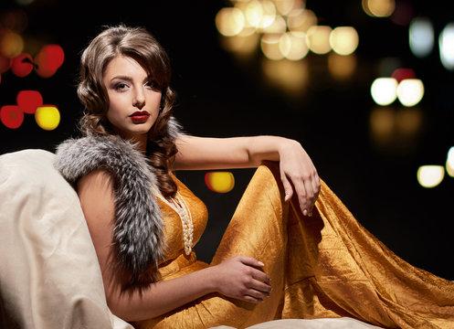 glamor fashion lady portrait