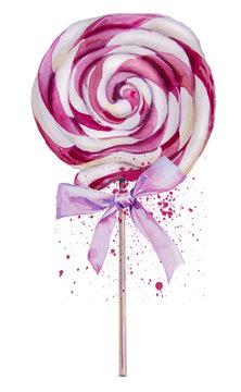 watercolor sweet Lollipop