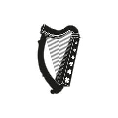 Symbol of  saint patrick day harp
