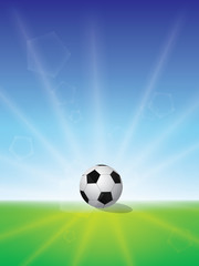 Football / Soccer Sunrise. Vector Background