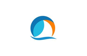 circle sailboat logo