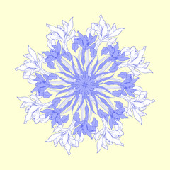 Background with round blue irises