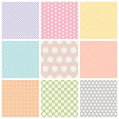 set of seamless dots patterns