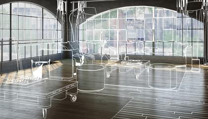 Postindustrial Loft Conception (furnishing)