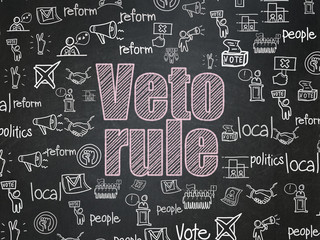 Political concept: Veto Rule on School Board background