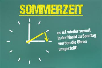 Sommerzeit Uhrenumstellung