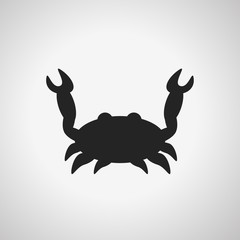 crab symbol sign flat icon of seafood