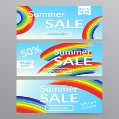 Banners summer sale.