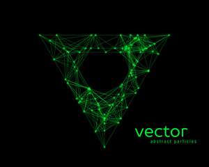 Abstract vector illustration of triangle