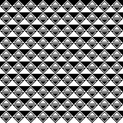Seamless Pattern | Triangles | Rhombs | Black-and-White