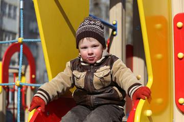 children play on the playground.
