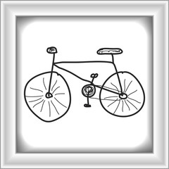 Simple doodle of a bicycle