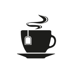 Cup with tea bag symbol icon vector illustration