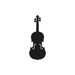 Vector illustration of acoustic violin or fiddle on white background
