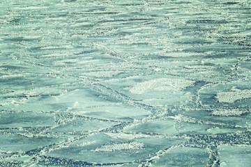 Winter ice on water