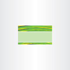 abstract green business card vector template background