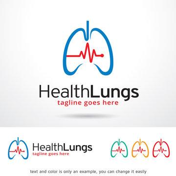 Health Lungs Logo Template Design Vector