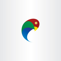 parrot bird vector icon symbol