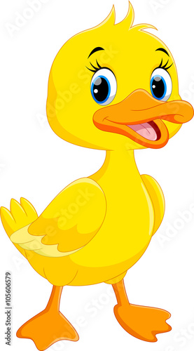cute duck cartoon isolated on white background stock image and rh fotolia com cartoon ducks images with umbrellas cartoon ducks images with umbrellas