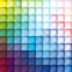 Color squares background, pattern color rhombs, mesh gradient wallpaper, transition from blue to pink, vector design background