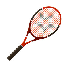 Vector illustration. Tennis racket isolated on white background