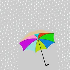 umbrella and the rain
