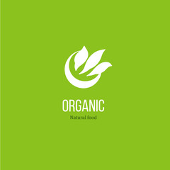 Leaves logo for organic product