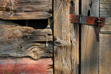 Rusted Latch on Old Barn