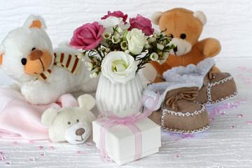 Fototapete - Geschenke zur Geburt