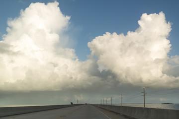 Traffic on Overseas Highway crossing Seven Mile Bridge, Florida Keys, USA