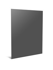 Blank paper folder. 3d illustration on white background