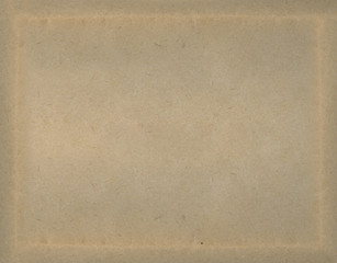 Brown paper texture background with natural frame