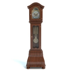 3d illustration of a grandfather clock