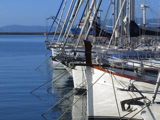 Yachts lying at dock