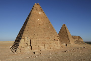 A group of pyramids in Sudan