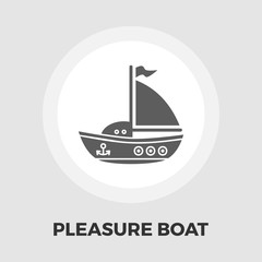 Pleasure Boat Line Icon
