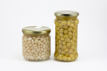 Canned beans and chickpeas